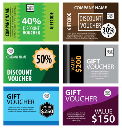Gift Vouchers. Great vector for social media, online stores, product marketing, sales promotions, bonuses, web, discounts etc. Ilustracja
