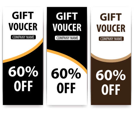 Gift Voucher template. Great vector for social media, online stores, discount coupons, web etc.