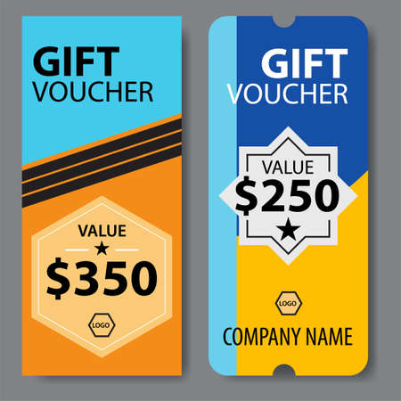 Gift Voucher market offer template. Great vector for social media, online stores, discount coupons, web etc. Ilustracja