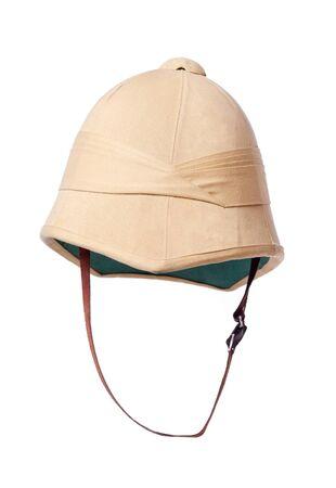 isolated cork helmet on white
