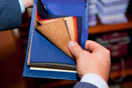 Searching through fabrics for a suit