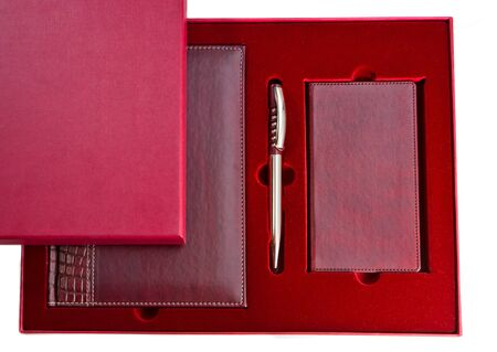 Business gift with notepad, pen and a notebook