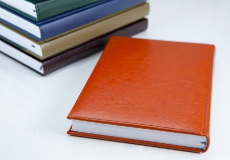 Colorful dairy books and notebooks Stock Photo