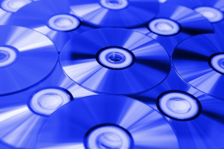 pile of blue-ray dvd disks