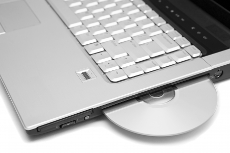 laptop computer with dvd disk