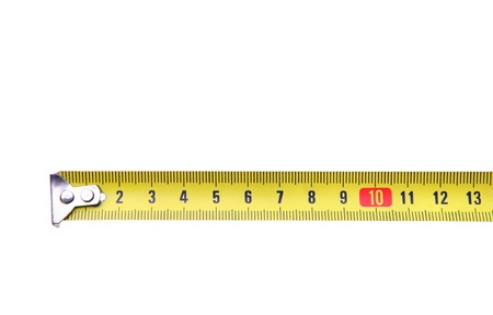 measuring tape close-up Stock Photo