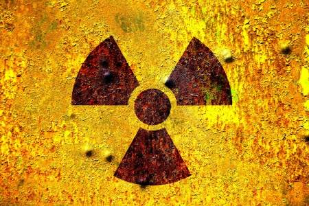 old rusty nuclear raditation warning sign Stock Photo - 18801821