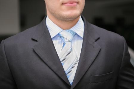 businessman tie and suit close-up