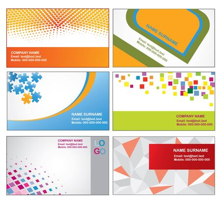 Abstract colorful business card templates