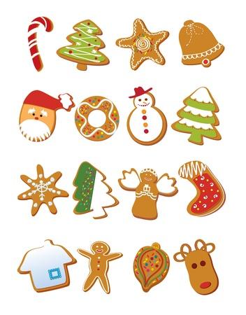 biscotti di natale: Biscotti di Natale Vettoriali