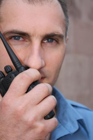 policier: Agent de s�curit� Banque d'images