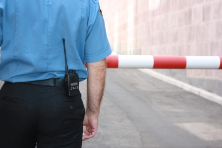 Security guard Standard-Bild