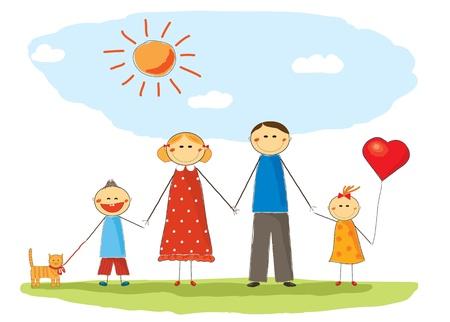 baloon: Happy family