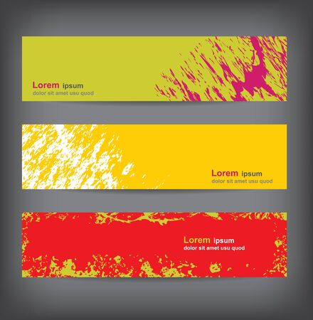 Grungy banners, colorful backgrounds Vector