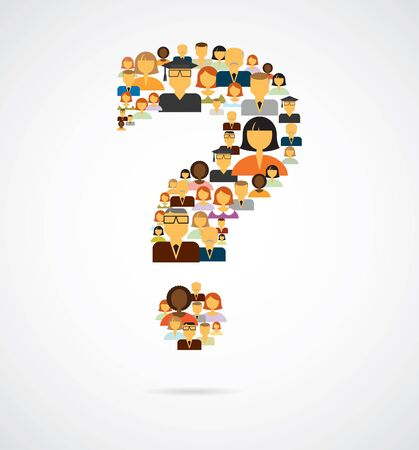 question icon: Question made of people icons