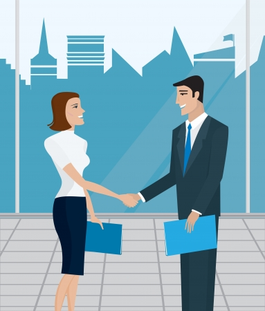 Business people, business meeting, business agreement Stock Vector - 16437838