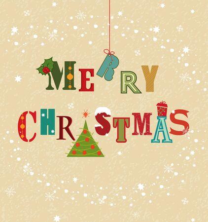 Colorful Christmas card  Çizim