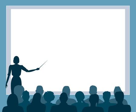 Zakelijke presentatie, seminar Vector Illustratie