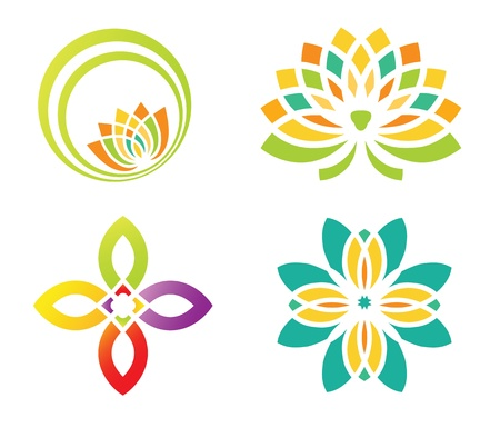 flower clipart: Abstract floral design for logo designing