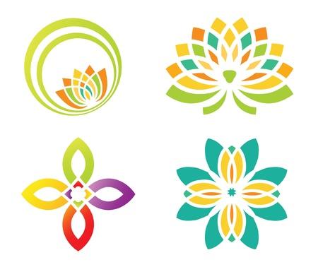 flower concept: Abstract floral design for logo designing