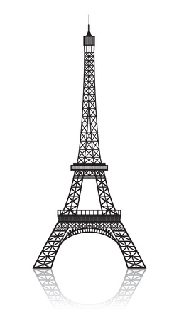 eiffel tower: Eiffel tower isolated on white