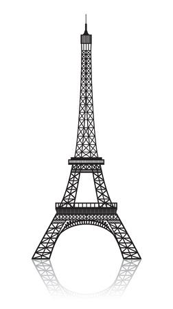 eiffel tower: Torre Eiffel aislado en blanco