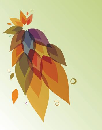 Abstract floral background. Autumn.