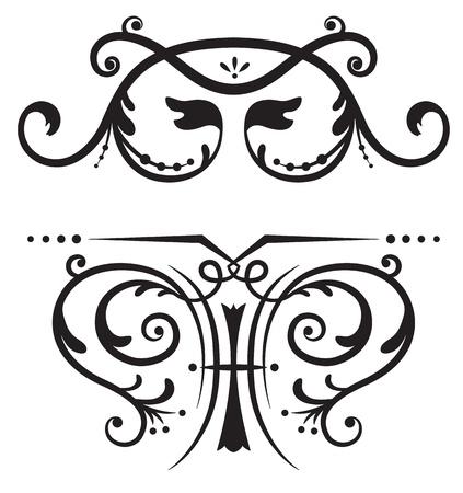 friso: Rollos de dise�o y decoraci�n Vectores