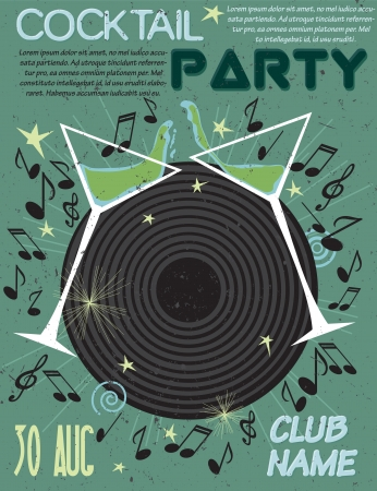 Cocktail party poster Illustration