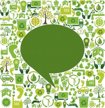 Green speech bubble