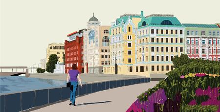 moskva: Cityscape design   Illustration