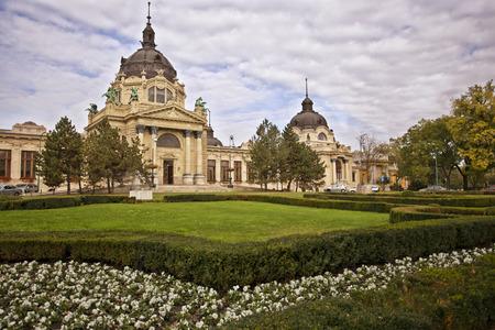 Szechenyi spa bath in Budapest, Hungary. Editoriali