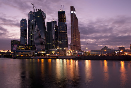 Moscow city, business center