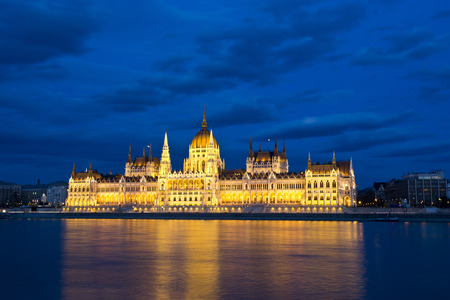 Building of Parliament in Budapest, Hungary.