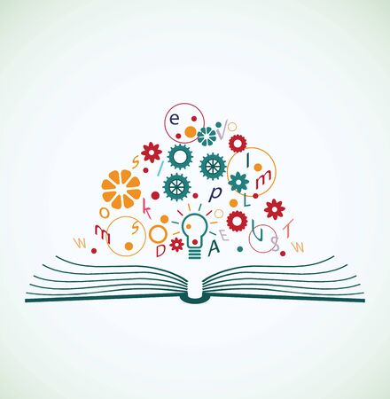 creativity concept: Abstract concept of education Illustration