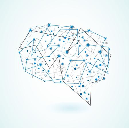 mente: Ilustración abstracta de la mente