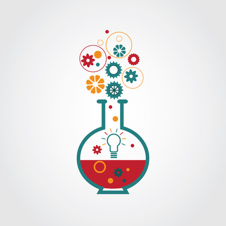 Creative lab. Inspiration, imagination, creativity concept design.