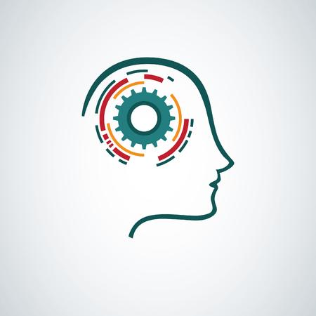 mente creativa concepto de diseño Ilustración de vector