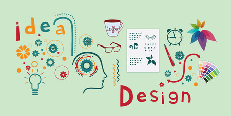 Logo design process. Çizim