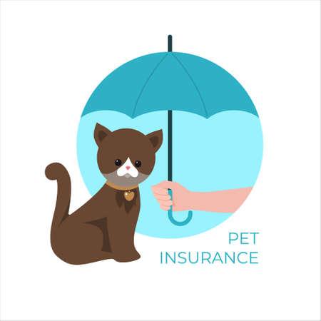 Pet insurance concept. Vector illustration.