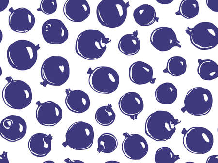 Hand drawn seamless vector pattern background illustration with currants.