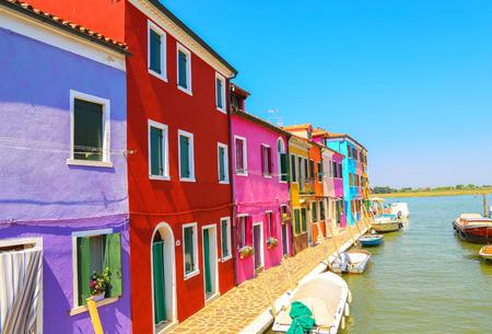 streetlife: Venice, landmark, Burano island, canal, colorful, houses, italy