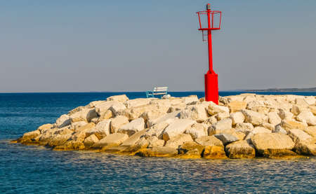 Lighthouse in Adriatic sea, Croatia, Istra