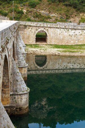 mehmed: Close-up image of old stone middle age bridge pillars, Visegrad, Bosnia and Herzegovina