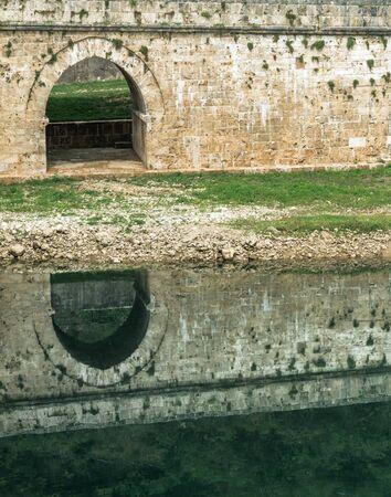 visegrad: Close-up image of old stone middle age bridge pillars, Visegrad, Bosnia and Herzegovina
