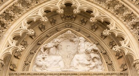 stephen: Portal of the cathedral Virgin Mary, Zagreb, Croatia Stock Photo