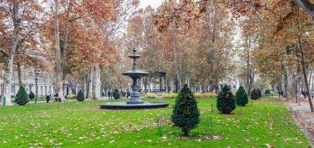 Park Zrinjevac in center of Zagreb, Croatia
