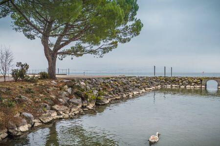 leman: Waterfront at the Geneva (Leman) Lake in Lausanne, Switzerland