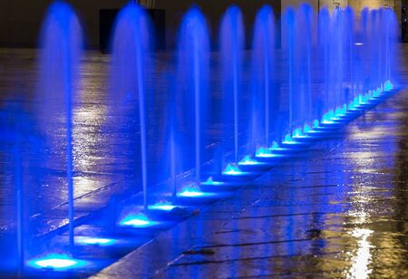 Part of blue fountain. Dijon, Bourgogne Franche-Comte province, France