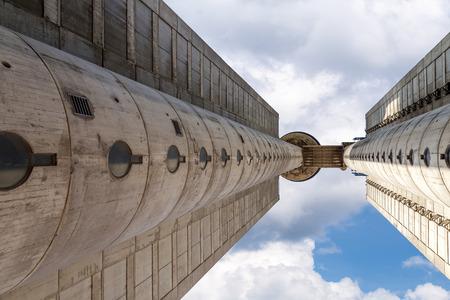 Western City Gate of Belgrade is a 35-storey skyscraper in Belgrade, Serbia, which was designed in 1977 by Mihajlo Mitrovic in the brutalist style.